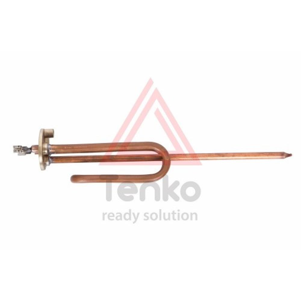 ТЭН 2 кВт для бойлера, фланец 48 мм, медь, гнутый, под анод М6, длинная ножка